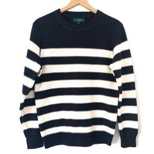Reverse Jersey Sweater in Stripe